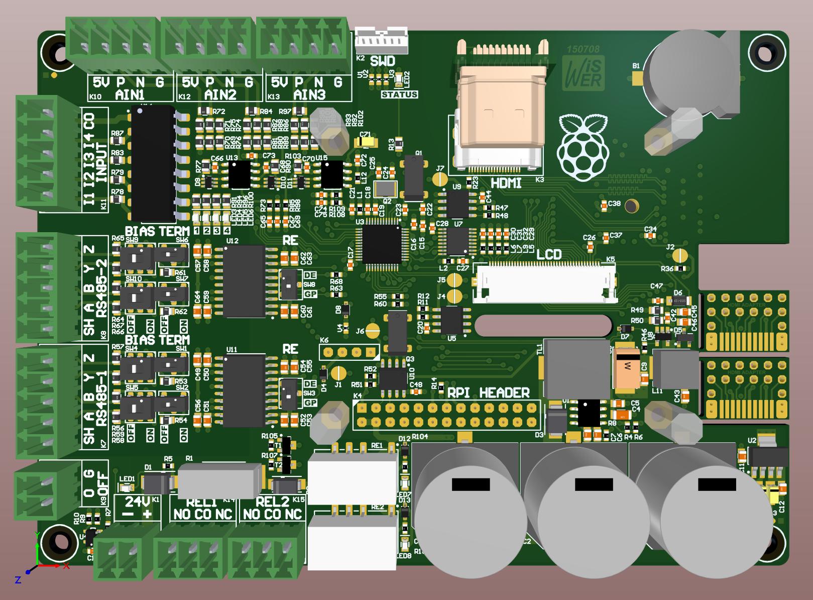Board-RPI 3D-Top