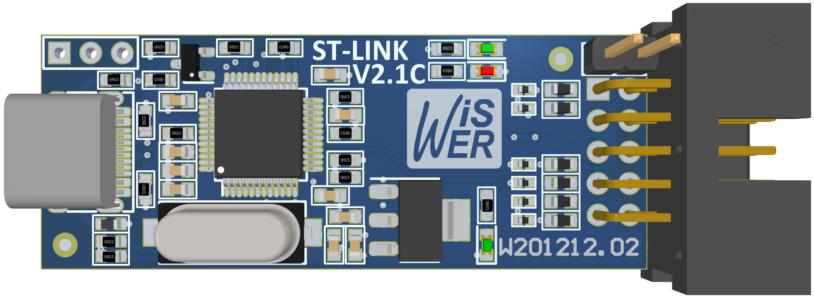 STLINK PCB 3D TOP