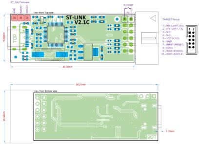 STLINK PCB Drawing
